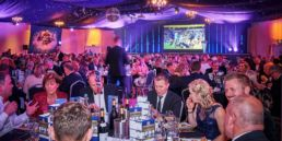 Bath Rugby Annual Awards evening event production at Bath Pavilion