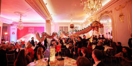 A Chinese Dragon Dance at a gala dinner event in Mandarin Oriental Hyde Park in London